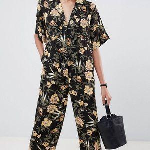 ASOS floral boiler suit NWOT